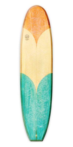 freja wooden surfboard