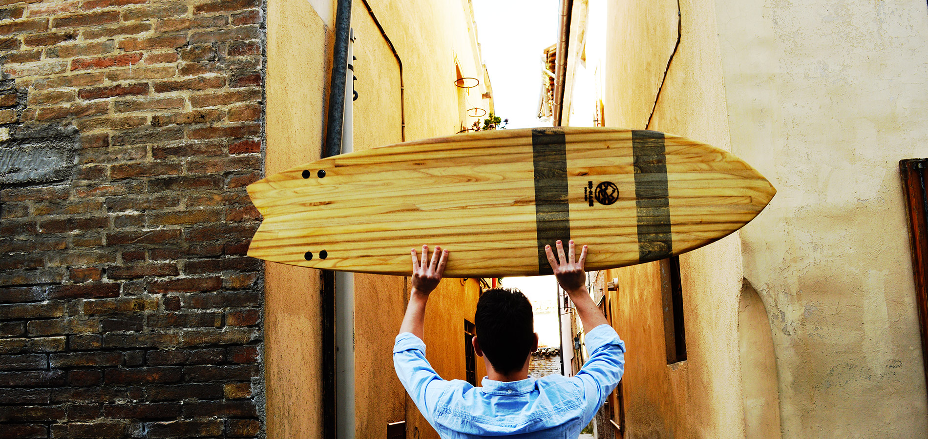 how to make a wooden fish surfboard from scratch