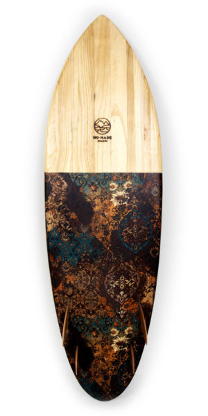 avocado sartorial wooden surfboard