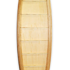 custom wooden surfboard