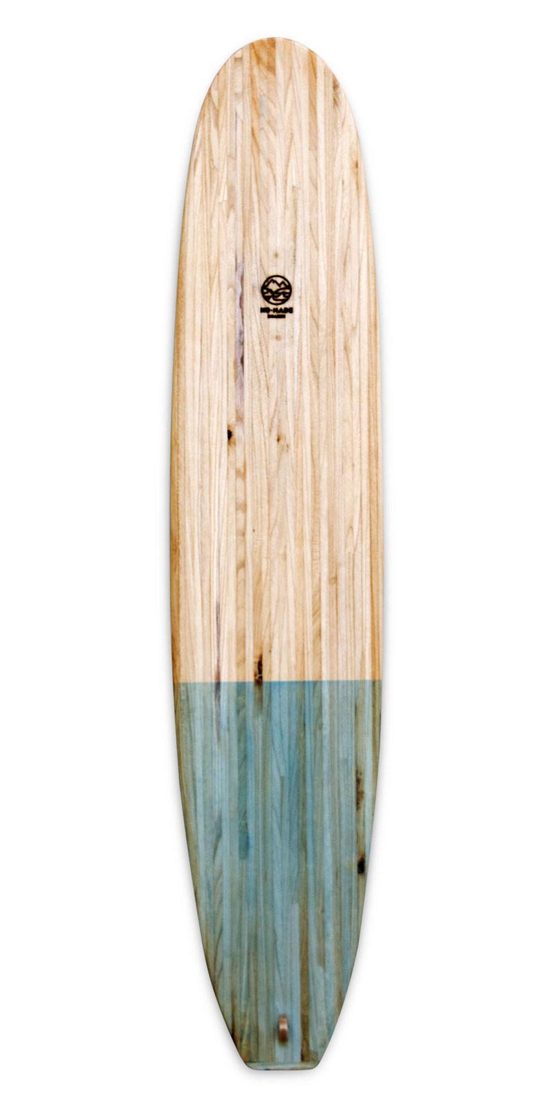 kombu wooden surfboard