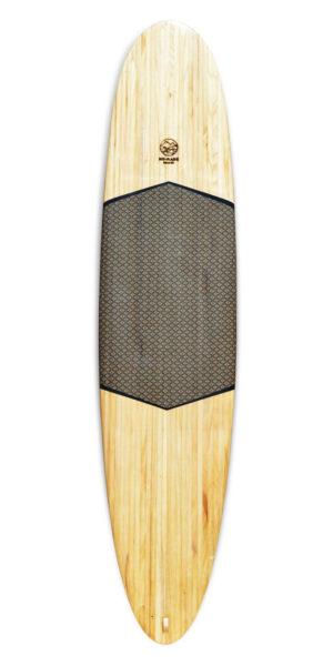 kombu sartorial wooden surfboard
