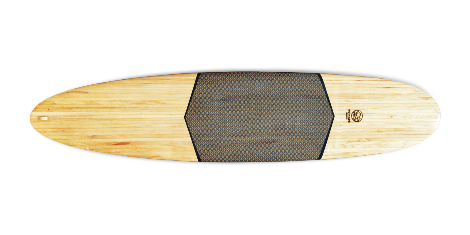 wooden surfbaord