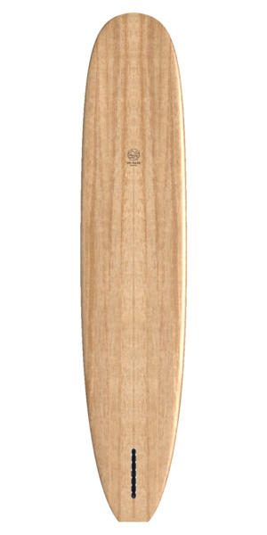 wooden surfboard